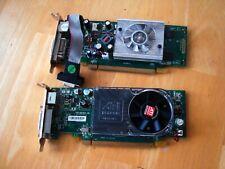 NVIDIA GeForce 8400 GS 256 MB PCI Express x16 & ATI Radeon HD 3400! Lot of 2!