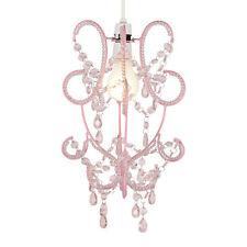 Modern Girls Pink Shabby Chic Ceiling Light Pendant Shade Chandelier Lampshade