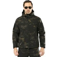 Airsoft Men's Outdoor Military Tactical Jacket Soft Shell Waterproof Coats TAD