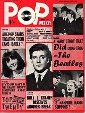 Pop Weekly Magazine 5 June 1965  Cilla Black Billy J. Kramer The Rockin' Berries