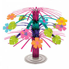 Hawaiian Luau Hibiscus Flowers Cascade Beach Tropical Party Table Decoration