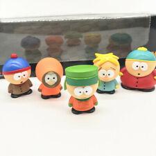 New 5pcs Southpark Characters Cartman 6cm Action Figures Set