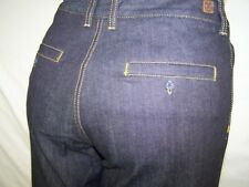 Luxirie by LRG Blue Classic Five Pocket Bell Bottom Denim Jeans Womens Size 30
