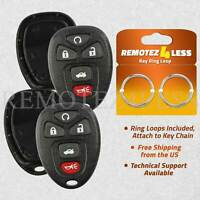 2 for Buick Chevy Pontiac Saturn Keyless Remote Car Entry Key Fob Shell Case 5b