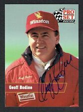 Geoff Bodine #33 signed autograph auto 1991 Pro Set NASCAR Trading Card