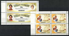 Kiribati 1981 SG#156a, 157a Royal Wedding MNH Booklet Pane Set #R195