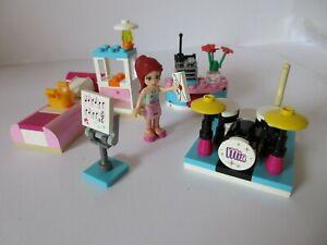 LEGO FRIENDS 3939 MIA'S BEDROOM Set 100% Complete with Drum Kit & Mia Mini-Doll