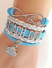 Beach Girl Bracelet Sea Shell Charm Surf Sand Ocean QUALITY USA