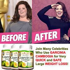 3 PACK GARCINIA CAMBOGIA PURE 1000 mg NATURAL WEIGHT LOSS 70% HCA DIET BURN FAT