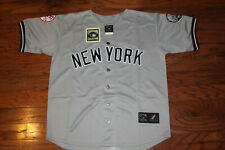 New York Yankees #2 Derek Jeter Away Gray Jersey w/Tags Size M (Adult)