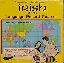 CONVERSA-PHONE'S IRISH GAELIC LANGUAGE RECORD COURSE-NM1980LP w/ BOOKLET