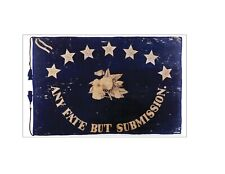 Saint Augustine Blues Battle Flag Window Sticker, Any Fate but Submission
