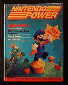 Nintendo Power Magazine 1988 First Issue Volume #1 NES Super Mario with Poster