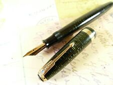 Emerald Pearl Parker Vacumatic Major Fountain Pen - restored