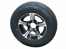 "AM01BR 205/75R14 LRC Radial Trailer Tire on 14"" 5 Lug Aluminum Trailer Wheel"
