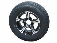 "AM01BR 205/75R14 LRC Radial Trailer Tire on 14"" 5 Lug Aluminum Trailer Wheel"