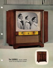 Zenith Television Console Dealer Details Model L2878R The Carrol Pre-Punched