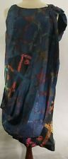Alexander McQueen Women 44 Dress Silk Rope Print Colorful Clothes Pin Sash Rare