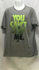 NIKE You Cant Stop Me T-Shirt Grey/Green aj7453 063 Size XL