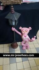 Extremely Rare! Pink Panther Standing Against Street Lantarn Big Figurine Statue