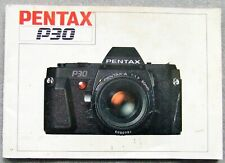 PENTAX P30 INSTRUCTION MANUAL 1985