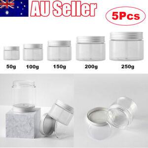 5Pcs 50/100/150/200/250g Cosmetic Jar Pot Refillable Face Cream Makeup Container