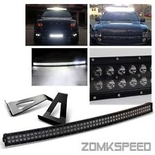 """For 04-14 Ford F150 54"""" 312W Black Curved CREE LED Light Bar/Mounting Bracket"""
