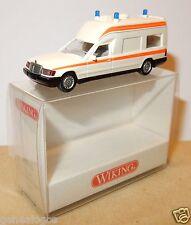 WIKING HO 1/87 MERCEDES W124 BINZ 2001 KRANKENWAGEN AMBULANCE EMERGENCY in box a