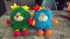 """2xVintage 1983 Hallmark Rainbow Brite Soft Toys 12""""."""