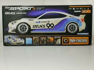 HPI RACING RS4 SPORT3 DRIFT CAR FATLACE 99 FACTORY SEALED 1/10 SHAFT 4WD