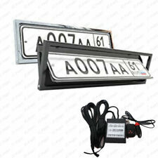 EU Electric Number Hide Rotate Turing License Plate Frame Flipper Cover Protect