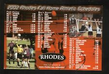 Rhodes Lynx--2002 Fall Sports Home Magnet Schedule