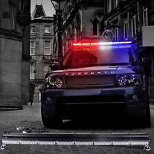 "47"" 96LED 288W Emergency Hazard Warning Double Side Strobe Light Amber White Blu"