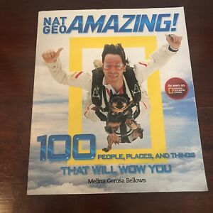 Nat Geo Amazing! 100 Melina Gerosa Bellows Paperback Childrens Collectible Book