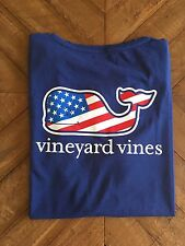 NEW Vineyard Vines Women's Whale Flag T-shirt Large