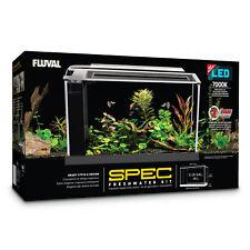 Fluval Spec 19 L - Black Desktop Glass Aquarium LED high Output Light