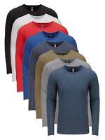 Mens Unisex Next Level Tri-Blend Long Sleeve Crew Neck Tee T-Shirt