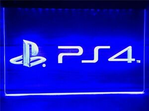 New PlayStation 4 PS4 LED Neon Light Signs Home Décor Boy Girl Friend Gift
