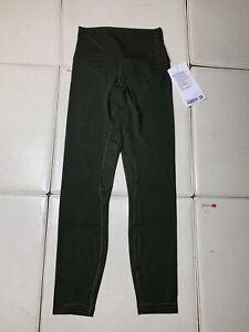 "Lululemon Women's Align HR Pant 25"" DKOV GREEN Size 4 Nulu Buttery Soft"