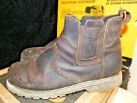 Site Mudguard Brown Leather Chelsea Safety Dealer Boots Steel toe 11 / 45 -AA238