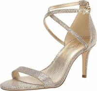 MICHAEL Michael Kors Ava Mid Sandal Silver/Sand 7.5, Silver/Sand, Size 7.5 XKMJ