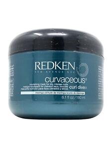 Redken Curvaceous Curl Dive Nourishing Mask with Moringa Oil 6.1 oz