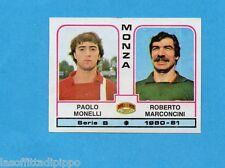 PANINI CALCIATORI 1980/81-Figurina n.438- MONELLI+MARCONCINI - MONZA -Rec
