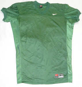 College Authentic Blank Football Jersey Green