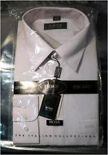 Men's HUGO BOSS Dress Shirt White, Size 17.5 / European 44, 100% Cotton