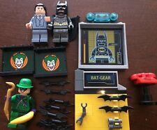 LEGO Batman Mini Figure Lot W/ Weapons Batphone, Batarang, Bruce Wayne, Riddler