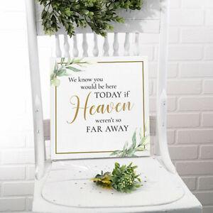 Wedding Memorial Sign Heaven Deceased Memory Ceremony Reception Decoration
