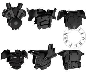 6pcs Custom Accessories Set of Trek Halo Star Wars for Minifigures!