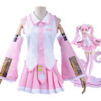 Vocaloid Hatsune Miku Sakura Pink Dress Outfits Halloween Cosplay Costume