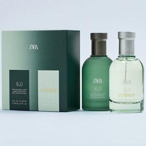 ZARA 8.0 + ZARA 8.0 SUMMER SET for MEN * 2 x 2.7oz (80ml) EDT Spray NEW & SEALED